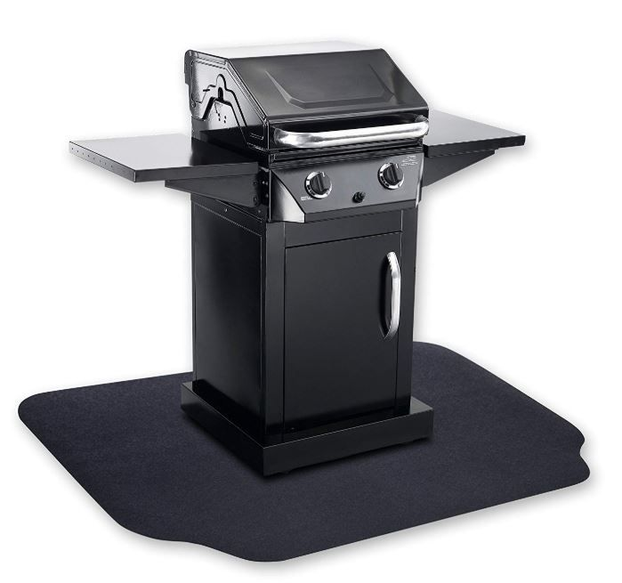 Grilltex Under The Grill Protective Deck And Patio Mat 36 X 50 Black