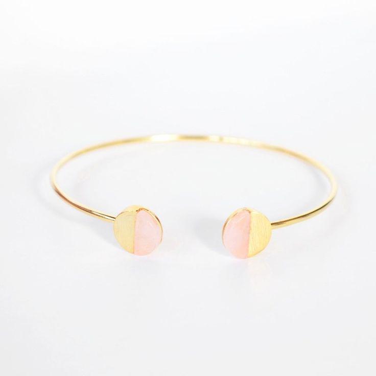 Majolie  - Pleine Lune Sweet Pink Gold Bangle -   - 1