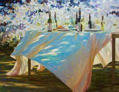 I really love this painting, it pictures a lazy afternoon with friends and family!