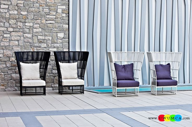 Furniture:Rustic Outdoor Summer Lounge Furniture Collection Easy Summer Garden Lounge Escapes Sofas Chairs Bar Table Set Tibidabo High Back Lounge Chair In White And Black Luxurious Outdoor Decor Fruniture Collection To Enliven Your Relaxed Summer Lounge!