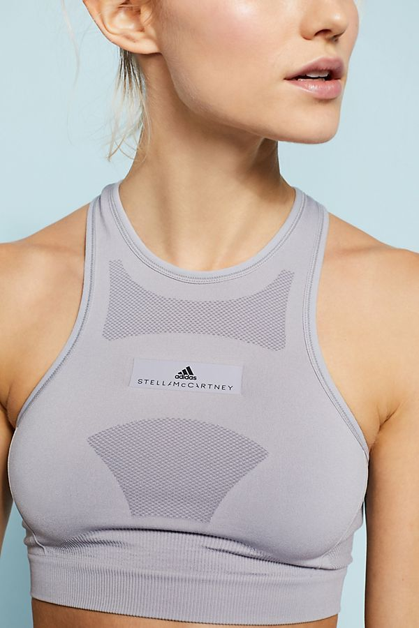9d3a26173326b Adidas by Stella McCartney High-Neck Seamless Sports Bra ...