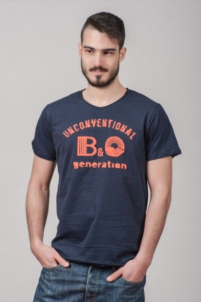 "Ανδρικό T shirt ""Unconventional generation"" Navy"