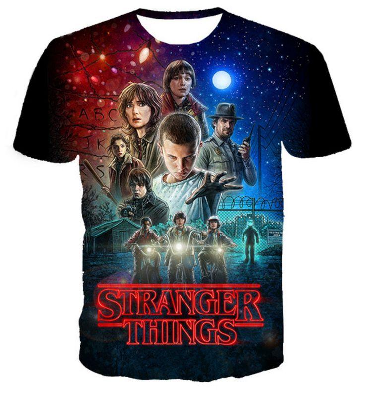 "2016 HOT TV Series ""Stranger Things"" 3d Printed T-shirt //Price: $ & FREE Shipping //"