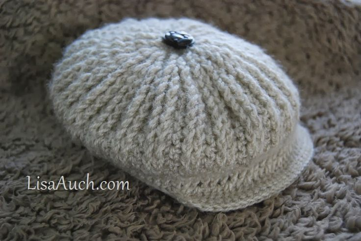 FREE crochet Patterns Ribbed Baby Cap Style Hat in crochet