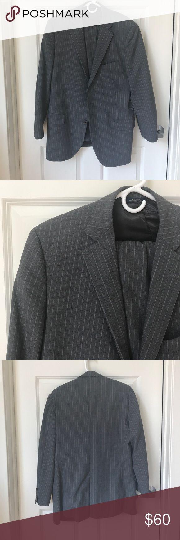 {BROOKS BROTHERS} Grey Pinstripe Suit 41R / 35W Brooks Brothers suit pants and jacket. Brooks Brothers Suits & Blazers Suits
