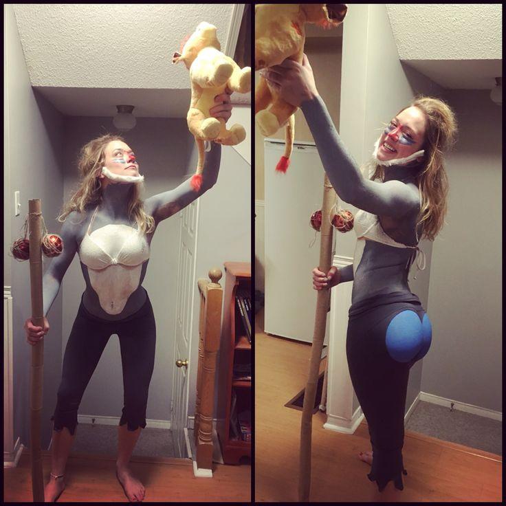 DIY rafiki #halloween #DIY #rafiki #lionking #costumes