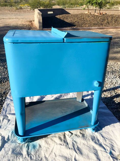 Paint ice chest cooler