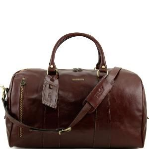Tuscany Leather - TL Voyager - Sac de voyage en cuir Marron foncé - TL141218/5 lkqzGN3l
