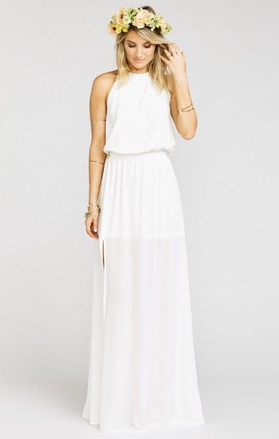 show me your mumu kendall wedding cake halter dress ivory crisp show me o 19807