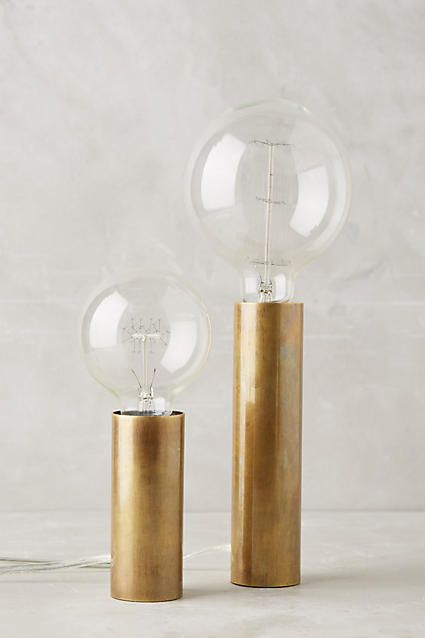 Brass Torchiere Table Lamp Set - anthropologie.com