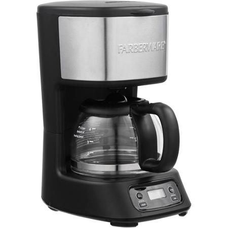 FARBERWARE 5-Cup Programmable Coffee Maker, Black & Stainless for Craig!