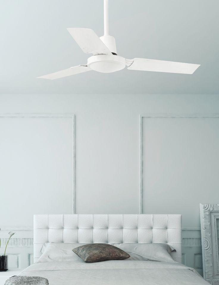 Mini indus ventilador de techo blanco sin luz fans - Ventiladores de techo sin luz ...