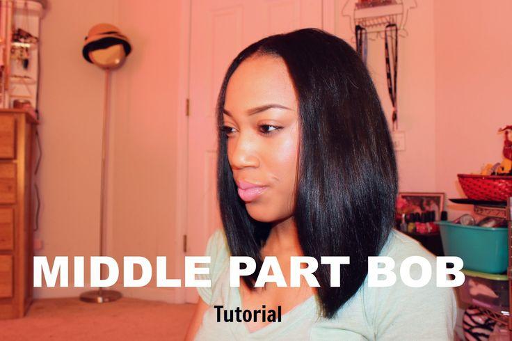 Middle Part Bob | Tutorial