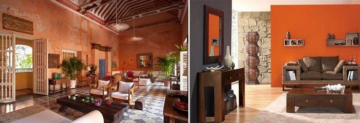 El color en las paredes es fundamental dentro de la decoración porque este le otorga estilo y dice mucho del espacio, sin embargo ¿Sabes que significa o que transmite cada color?  Color naranja. Significado. Decoración