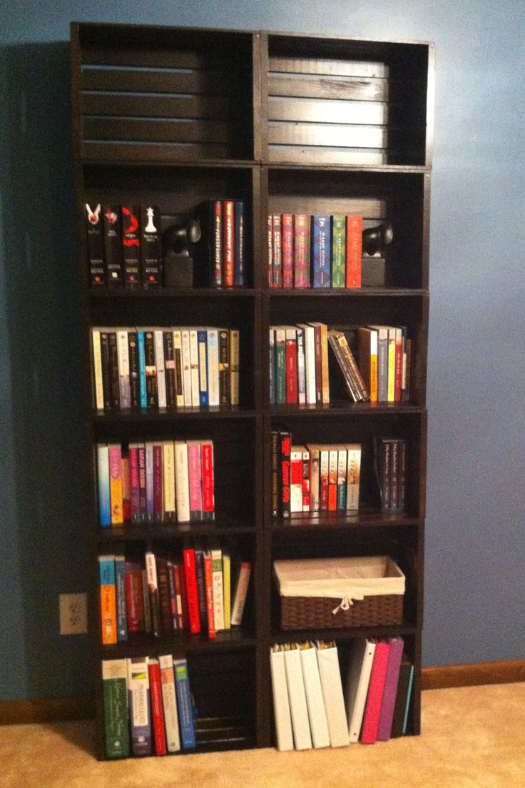 25 best ideas about crate bookshelf on pinterest for How to diy bookshelf