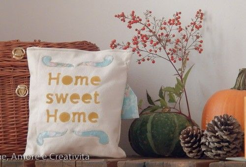 Regali di Natale fai da te: il cuscino home sweet home