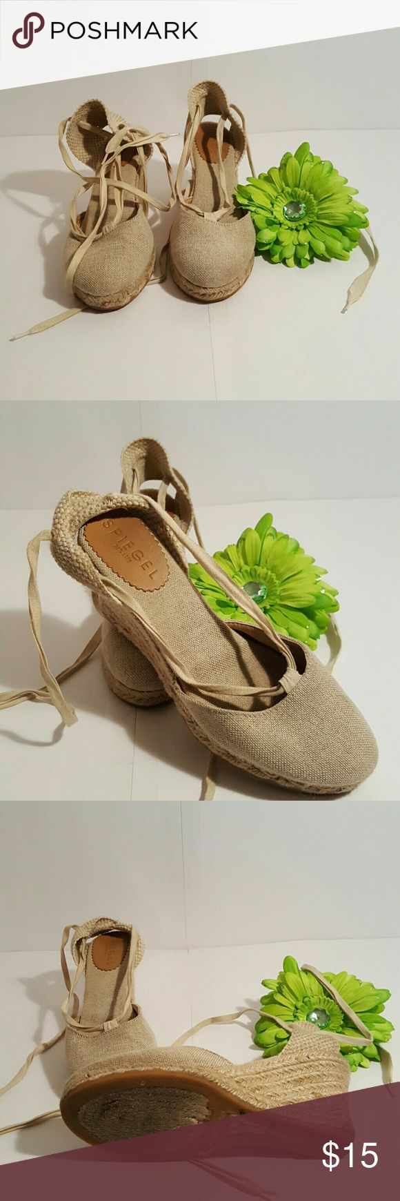 Spiegel Espadrilles  shoes Beige Espadrilles, shoes by spiegel, great condition, fun shoe to wea with capri, skirts and dresses. Spiegel Shoes Espadrilles