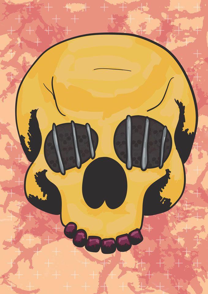 Skull Cage Prison final illustration