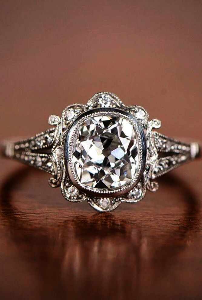 Pin On Beautiful Vintage Engagement Rings