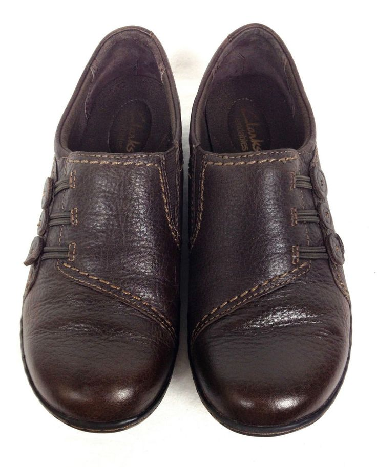 Clarks Shoes Womens Brown Leather Loafers 6.5 #Clarks #LoafersMoccasins #WeartoWork