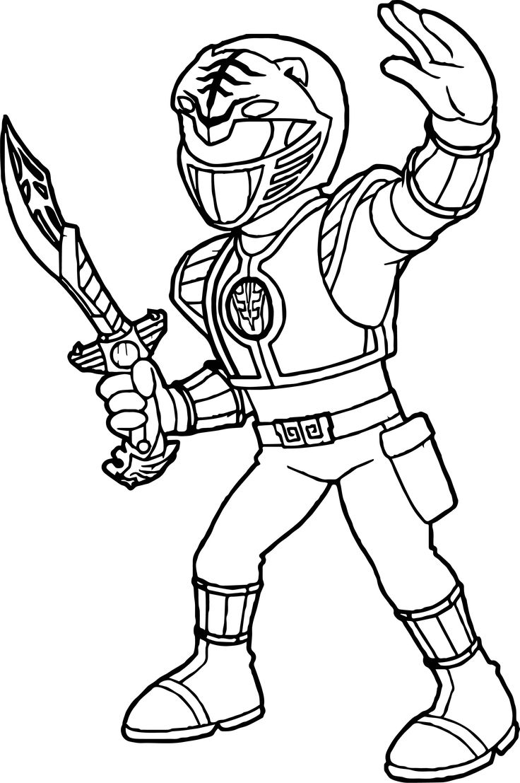 cool Power Rangers White Ranger Coloring Page | Power ...