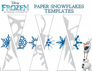 Make Paper Snowflakes by Frozen