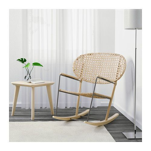 GRÖNADAL Rocking chair, gray, natural gray/natural