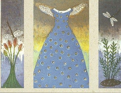 """Pearly Dress 2001"" by Kirsi Neuvonen (born 1960) , a Finnish printmaker."