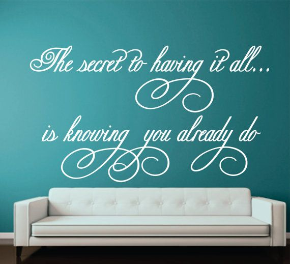 family wall decal romantic love decal the secret to