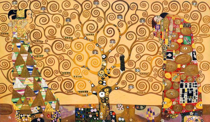 L'albero della vita (opera di Gustav Klimt) L'Albero costituisce la parte centrale; le altre due parti rappresentano L'Attesa e L'Abbraccio (o Compimento).