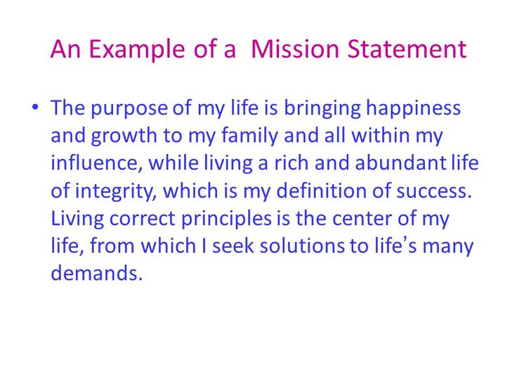 Best  Mission Statement Examples Ideas On   Mission