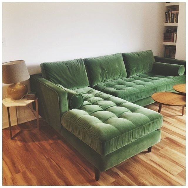 Sven Grass Green Left Sectional Sofa Sectionals Article