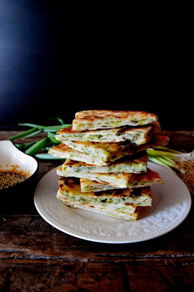 9-Layer Scallion Pancakes, see recipe for special folding method to ensure the layers.