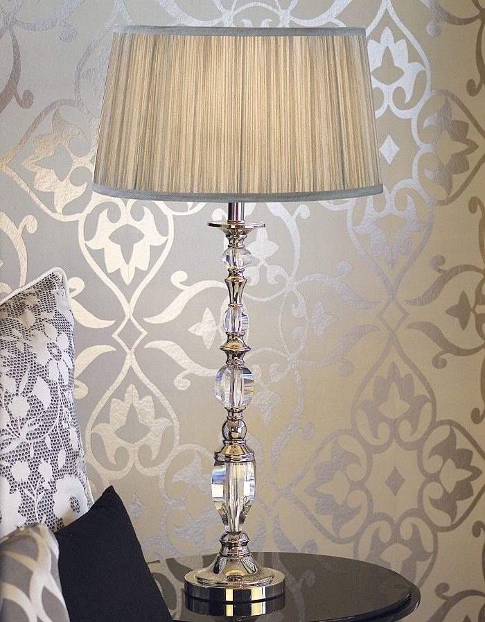 Empress Table Lamp - Shimmer Grey | Temple & Webster