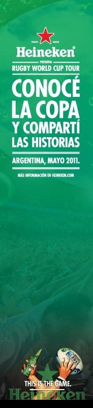 Publicidad Conocé La Copa, Heineken. Para 5 Yardas.