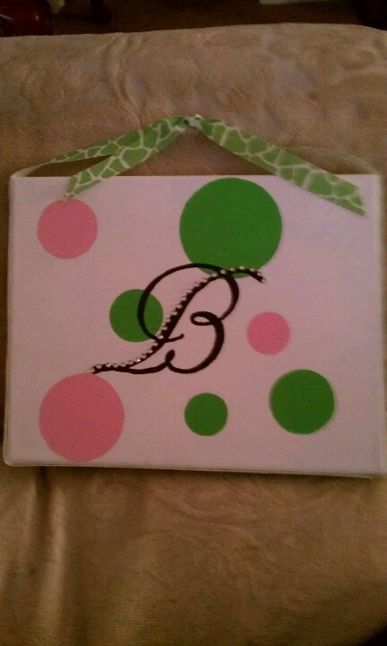 Canvas painted  dots