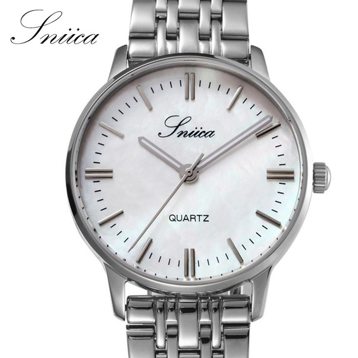 54.69$  Buy now - SNIICA  Women watches Swiss movement 316L steel Wristwatch Round Dial Waterproof Dress Quartz watch relogio feminino SN1063  #buymethat