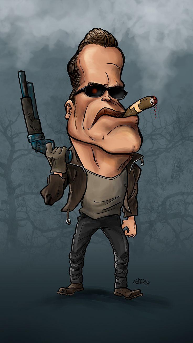 Arnold Schwarzenegger, known as Terminator, karikatyyri.  #caricature #karikatyyri #arnoldschwarzenegger #terminator #arnold #pumpingiron