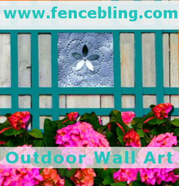 Outdoor Wall Art Metal Flower Insert Fence Bling in teal provides color and more separation between yards. My Outdoor Wall Decor is shade of teal I personally have all my home and yard, it looks just
