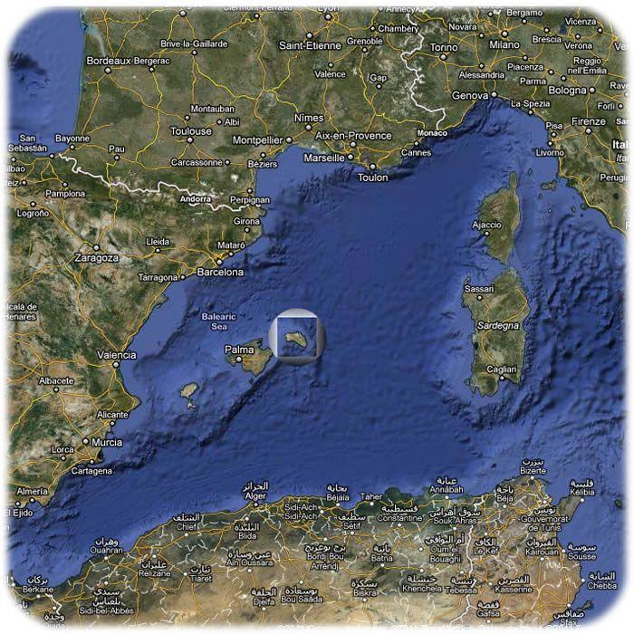 Mapa de Menorca archipielago de las islas