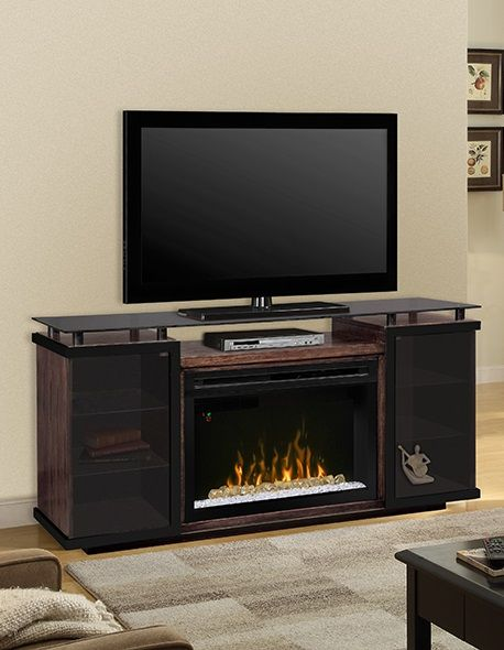 """Dimplex Aiden media cabinet with 33"""" Multifire electric #fireplace."""
