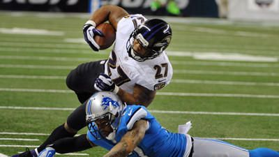 The Ravens aren't going to intimidate an opponent with this running game, but it is solid enough to complement the passing game. The problem is that Ray Rice, pictured, is inconsistent, and backup Bernard Pierce doesn't get as much time to showcase his talents. Grade: C  Read more: http://www.baltimoresun.com/sports/ravens/mikeprestonreportcards/bal-mike-preston-grades-the-ravens-lions-121613-pictures,0,6691281.photogallery#ixzz2nk69cIlj