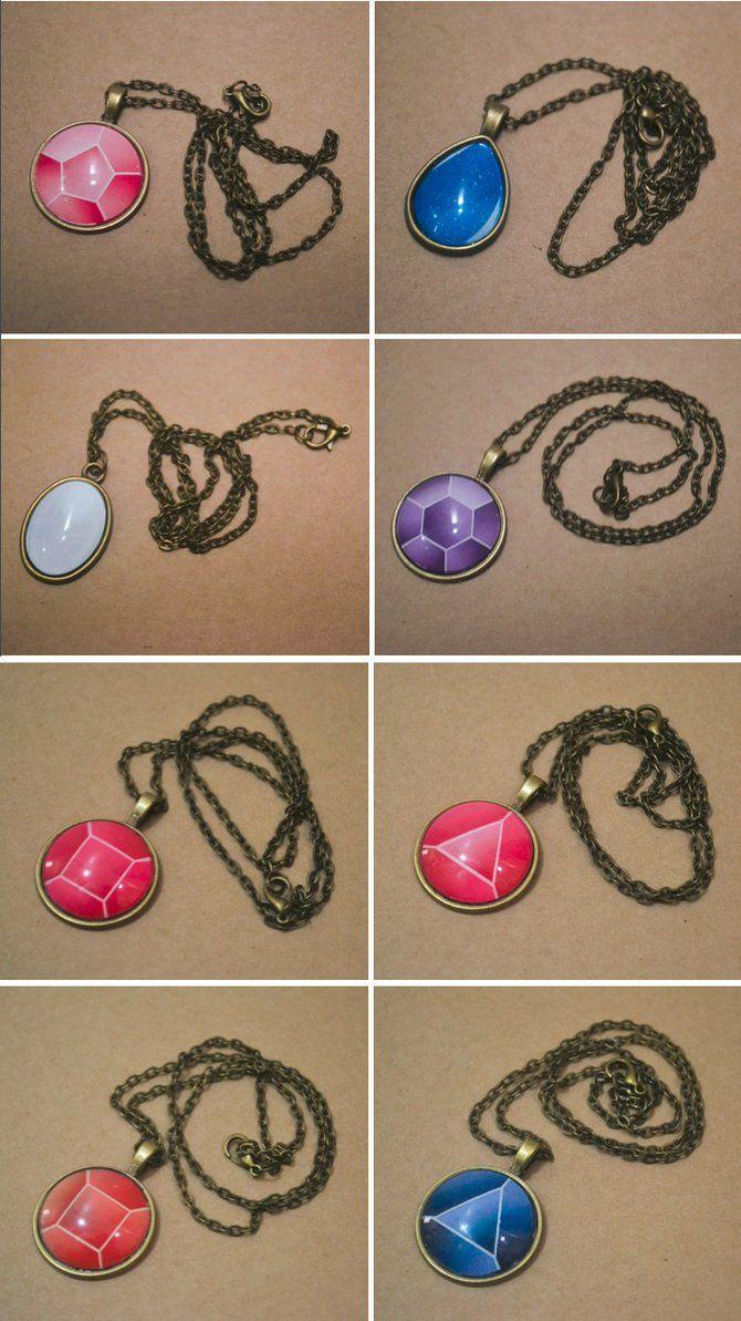 Gem Cabochon Necklaces by PumpkinQuartz