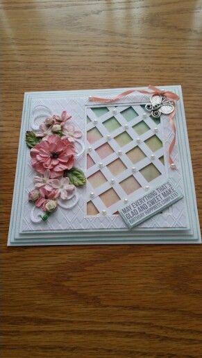 Lattice card cut on Silhouette Cameo