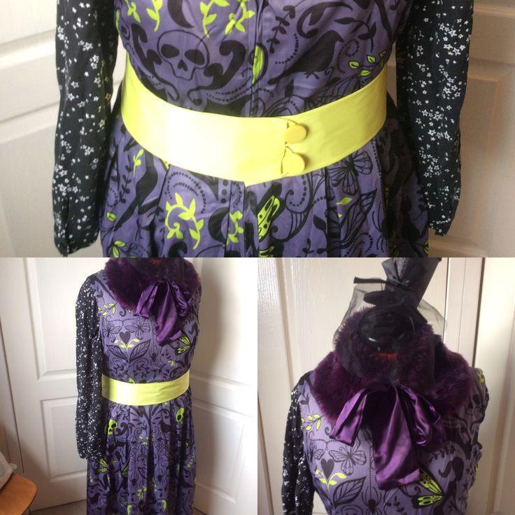 Lindy bop dress! #outfit  #ootd #goth #pastel #creepy #fashion #clothes #dress #cute #purple #black #lime