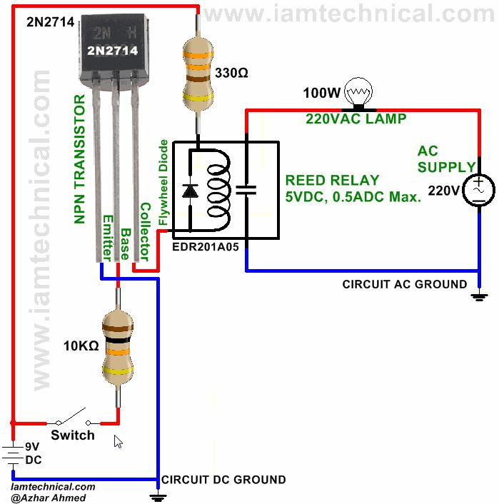 reed relay circuit diagram