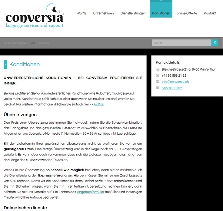 The conditions of Conversia.