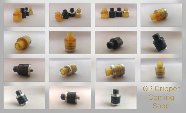 The GP Dripper from EU certified 316  SS and black and amber ULTEM is coming soon. A full SS top cap will be made as well.