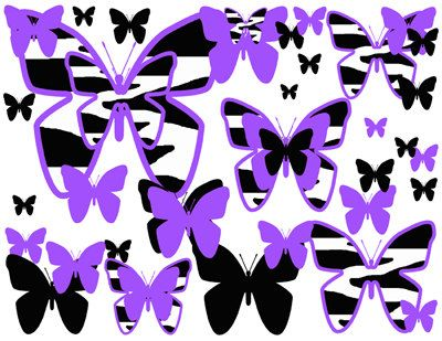 Butterfly wallpaper wallpaper borders and wall art decal on pinterest