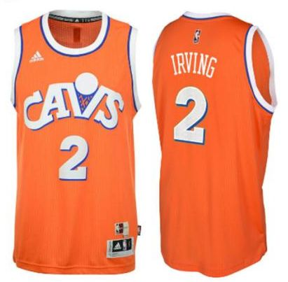 Men's Cleveland Cavaliers Kyrie Irving adidas Orange Hardwood Classics Swingman Player Jersey